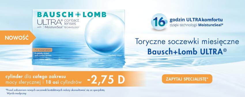soczewki kontaktowe cylindryczne Bausch Lomb Ultra