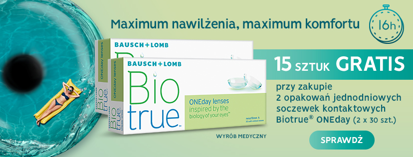 soczewki kontaktowe biotrue oneday 15 sztuk gratis